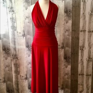 Holiday Red Halter Stretch sleeveless NINE WEST